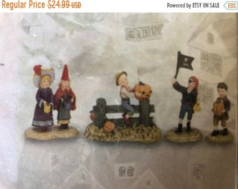 MAYniaSALE Department 56, Season's Bay, Trick or Treat, Set of 4, 53319, Collectible