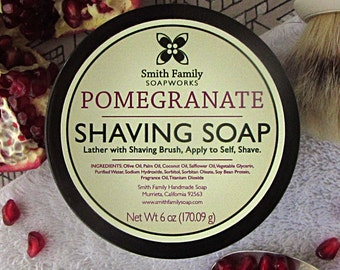 Pomegranate Shave Soap, Women's Shaving Soap, Olive Oil Shave Soap in Jar