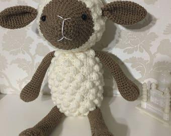 Crochet stuffed sheep, sheep plushy, sheep soft toy