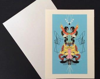Bull Rorschach Card