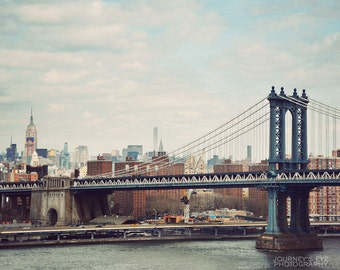 New York photography, fine art photograph, NYC wall art, New York City print - Manhattan Bridge
