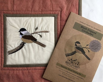 Chickadee: Thread Paint by Numbers and Free Motion Embroidery Pattern