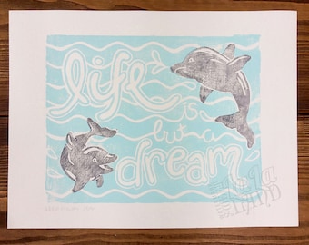 Keep Rowin' Lithograph Print