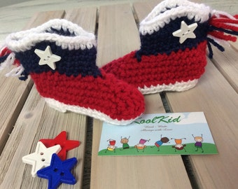 1 Pair *Cowboy or Cowgirl Baby Booties - Cute - Texans Love These - Little bit of Country