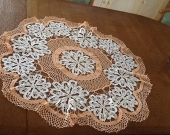 Cotton doily two colors