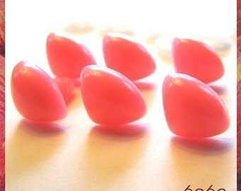 12 mm PINK Animal Plastic Safety Nose for stuffed animals -  6 PCS with plastic washers (TP12)