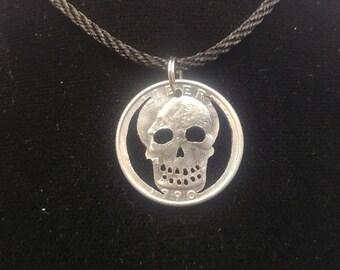 Skull Quarter Pendant