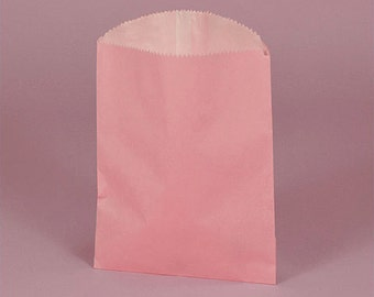 """4-3/4"""" x 6-3/4"""" Pink Gourmet Bags With Glassine Lining - 20 Quantity"""