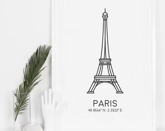 Paris Print, Eiffel Tower Print, Bedroom Decor, Digital Download, French Prints, Top Sellers, Wall Art, Printable Art, Paris Art