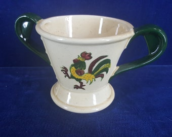 Metlox Rooster cream and sugar bowl set