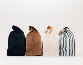 Lunch Bag // Waxed Canvas Lunch Bag