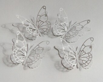 10 - - White Glove - - Vivienne Butterfly Punches, Die Cuts, Embellishments