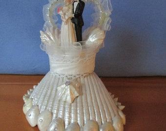 Beach Wedding Shell cake Topper