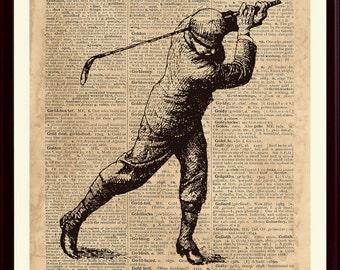 Golfer Print, Golf Decor, Gift For Golfer, Golf Poster, Golf Art, Sports Poster, Sports Decor, Golf Gifts, Golf Print, Sports Print, SKUG5