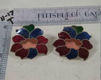 Vintage used  cloisenee earring  lot