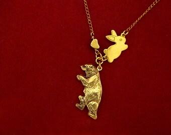 Bunny Loves Bear Necklace