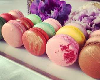 48 assorted French Macarons