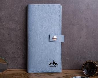 Travel wallet-travel wallet organizer-Leather custom travel wallet and passport holder- leather monogram travel-travel passport holder