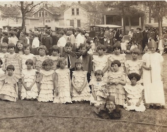 Antique Northern MN Young Children Park Theater - Play - Skit;  Orig. Photograph  ~ Garden Theme Costumes