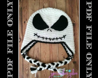 Skeleton Hat Crochet Pattern *** PDF FILE ONLY