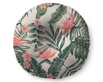 Tropical Floral - floor pillow