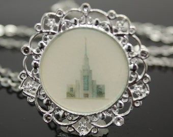Clearance Sale!! Twin Falls LDS Temple necklace, pendant, key chain or locket. FREE SHIPPING!!!