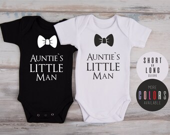 Aunt and Nephew, Nephew Gift, AUNTIE'S LITTLE Man One Piece, Best Auntie Ever, Auntie Baby Clothes, Aunt To Be Gift, More Colors Available