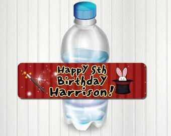 Magic Water Bottle Label, Magic Birthday, Magic Show, Magician, Water Bottle Label, It's Like Magic