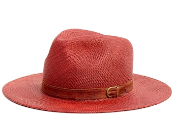 Brown Panama Straw Hat Spring Fashion Beach Sun Hat Spring Accessories Straw Fedora Hat Beach Hat Summer Hat Brown Hat Panama Fedora Hat