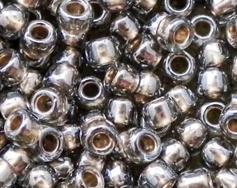 6/0 Toho Seed Beads - 15 grams - Gold Lined Black Diamond Toho Seed Beads - 1751 - Color # 6-993