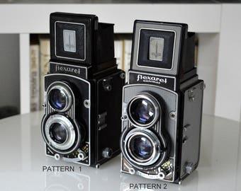 Flexaret V, Camera, Old Cameras, Meopta, with Original Leather Case, made Czechoslovakia, Vintage, Antique