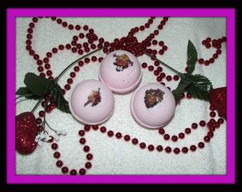 Pure Seduction Bath Fizzies, Pure Seduction Bath Bombs, Bath Fizzies, Set of 3 Bath Bombs, Bath Soak, Bath Bomb