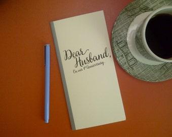 1st Anniversary // Dear Husband On Our 1st Anniversary Journal // Staple Bound Journal