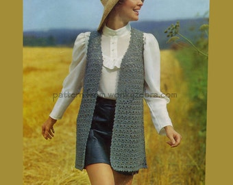 Vintage Crochet Jacket Pattern PDF 606 from WonkyZebra