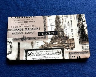 Paris Checkbook Cover