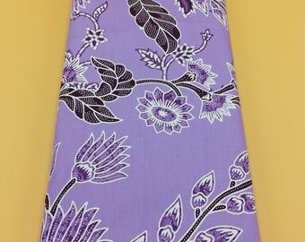 Sarong Flower Fabric Purple Batik Sarong Cotton Fabric