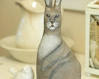 SALE - Antique Style Folk Art Primitive Cloth Rabbit Bunny, rabbit A