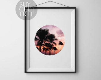 Tropical wall art Printable Palm tree Nature print Palm Leaf Print Printable Poster Palm Trees Print Tropical decor Instant download