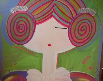 Canvas 60X80cm acrylic paint, image Fallera