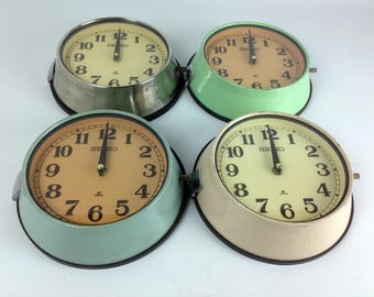Vintage Steel Seiko Ship's Clock - Four Original Finishes Available