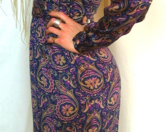 100% Silk Dress in Paisley