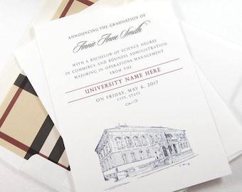 Florida State University Graduation Announcement, Invitations, Florida, University, College, Tech, Graduation Cards (set of 25)