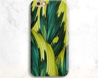 iPhone 8 Case, Palm Leaves iPhone 7 Case, iPhone 6 Case, iPhone X Case, iPhone SE Case,Tropical iPhone 8 Plus Case,Floral 7 Plus, iPhone 5