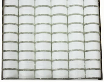 Janome Genuine 108 Pack White Pre-Wound Plastic Bobbins For Sewing Machine