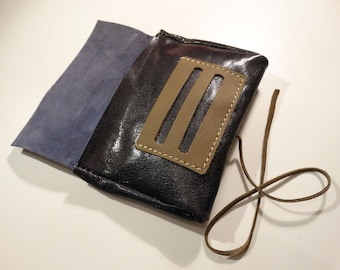 Patent leather tobacco pouch