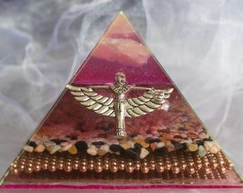 Audranite Purple Winged Isis Pyramid
