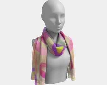 Candy Floss Scarf by Deloresart