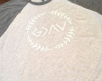 God Is Greater Than The Highs And Lows Christian Raglan shirt ~ Christian Shirt