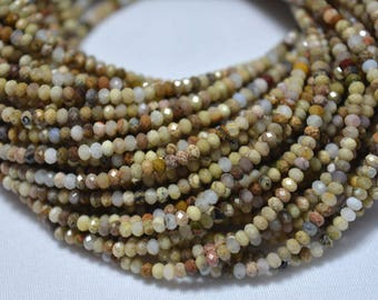 Ocean Jasper Beads, 2.40mm Beads, Micro Faceted Rondelles Beads, Jasper Rondelles, Gemstone beads 12.5 Inches Strand