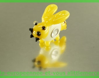 European bee N1 for bracelet necklace charms glass bead